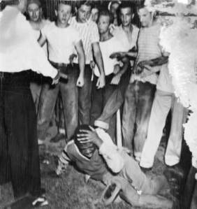 Figure 1: McKinney wasn't the first time a young black person was thrown to the ground because of pool politics.  St. Louis, 1949